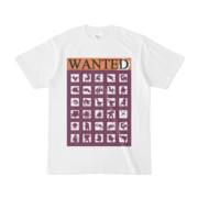 シンプルデザインTシャツ WANTED MONSTER(PURPLE)