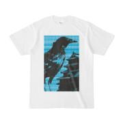 シンプルデザインTシャツ M-CrowCastle(CYAN)
