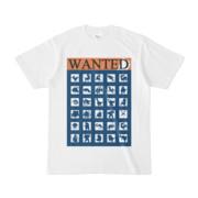 シンプルデザインTシャツ WANTED MONSTER(NAVY)