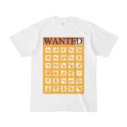 シンプルデザインTシャツ WANTED MONSTER(GOLD)