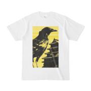 シンプルデザインTシャツ M-CrowCastle(YELLOW)