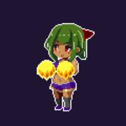 うちの子GIFアニメ:チアダンス