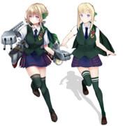 パース【MMD艦これ改造モデル】比較(アールビット鯖缶ぽんぷ長式)