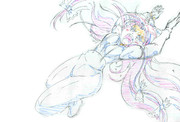 シーンカットの妹紅ちゃん3(色鉛筆