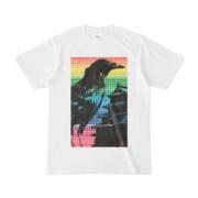 シンプルデザインTシャツ M-CrowCastle(RAINBOW)