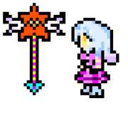 FF風魔法少女 O-01-04(憎しみの女王) - 改良+ステッキ