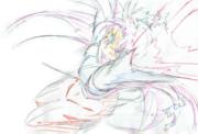 シーンカットの妹紅ちゃん4(色鉛筆