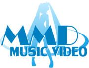MMD MUSIC VIDEO LOGO ブルー