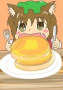 ホットケーキの日に描いたワンドロ橙