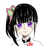 カナヲをONE PIECEっぽく描いてみた