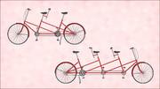 【MMDモデル配布】タンデム自転車