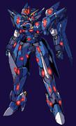 可変機「ヴィクセント」(さらに真っ青カラー&赤目)