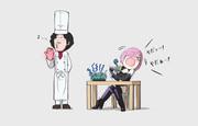 自分の作った料理をマシュに食べさせてあげる大泉洋