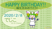 でじこ〔デ・ジ・キャラット〕 誕生日記念イラスト2020