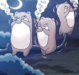 月夜の晩のボクカワウソ
