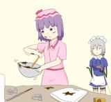 お菓子を作るHSK姉貴
