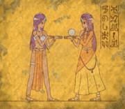 【壁画】マーニャとミネア