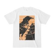 シンプルデザインTシャツ M-CrowCastle(ORANGE)