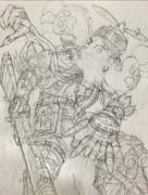 THE  ARTY・グンジ絵軍軍曹 鉛筆線画