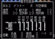 【MD】スーパー大戦略:M42ダスター