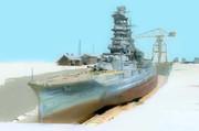 戦艦「榛名」 -乾ドック-