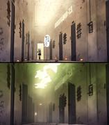 たまに明るい廊下