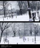 【MMDステージ配布】雪の公園ステージ