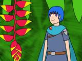 Heliconia-rostrataと少年戦士