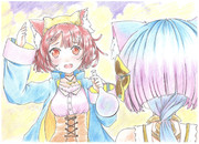 猫耳になったソフィーとプラフタ