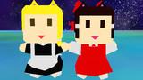 霊夢さんと魔理沙さんのローポリゴンなモデルアップデートしました(MMDモデル配布あり)