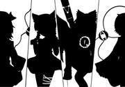 【東方】古明地ファミリーを白黒で描いてみた