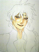 D灰 ティキ(ペンと色鉛筆)