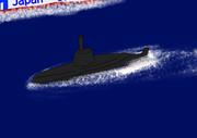 海上保安隊に拿捕される密猟者の潜水艦