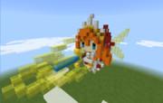【マイクラ】超全力全開!プリンセスストライク!!【ドットアート】