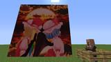 【マイクラ×MMD】128x絵画でMMD画像表示