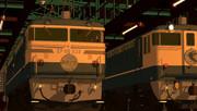 夕刻の東京機関区