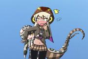 食事後に王の威厳を破壊されそうになるキングコブラ