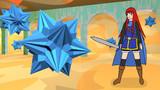 大三方二十面体と少女