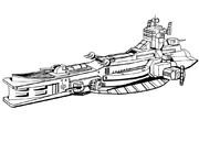 ザクのおやつ~地球連邦軍サラミス級巡洋艦