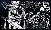 [魔法の階段を上って・・・]風野灯織【切り絵】