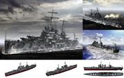 MMD用モブ軽巡洋艦1940(モブックリン)セット