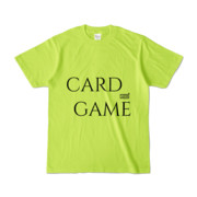 Tシャツ ライトグリーン 文字研究所 CARD GAME