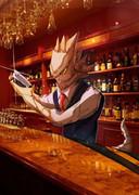 お酒を振る舞う12F