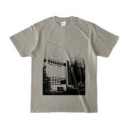 Tシャツ シルバーグレー Shinjuku_Building