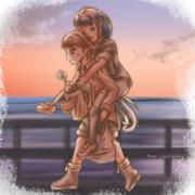 【艦これ】夕暮れの、海沿いにて【比叡/五月雨】