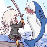 無人島でサメを釣るゲーム