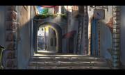 砂の街の路地