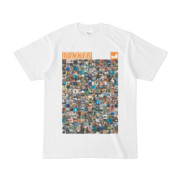 シンプルデザインTシャツ ANIMAL☆TANKER(ORANGE)