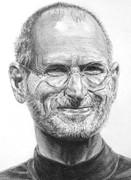 実業家スティーブ・ジョブズ 鉛筆画