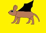 兎のような頭に猫のような体、そして蝙蝠のような翼を持つアヤカシ